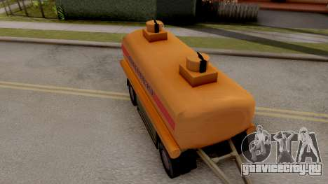МАЗ Прицеп-Цистерна для GTA San Andreas вид сзади слева