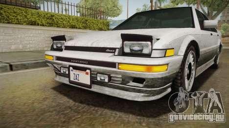 GTA 4 Dinka Hakumai Tuned Bumpers SA Style для GTA San Andreas вид сбоку