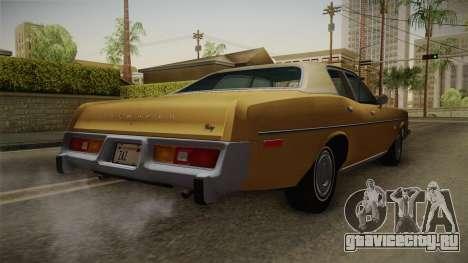Plymouth Fury Salon (RL41) 1978 HQLM для GTA San Andreas вид справа