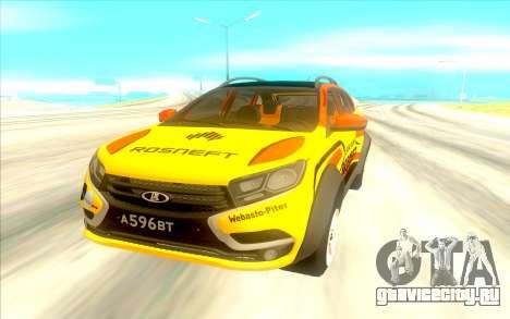 LADA X-Ray Rally для GTA San Andreas вид сзади