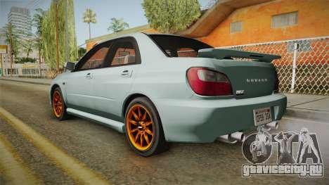 Subaru Impreza WRX Tunable для GTA San Andreas вид слева