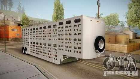 Double Trailer Livestock v1 для GTA San Andreas вид сзади слева