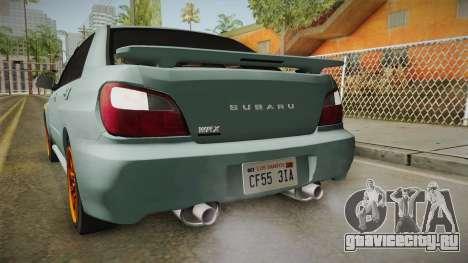 Subaru Impreza WRX Tunable для GTA San Andreas салон