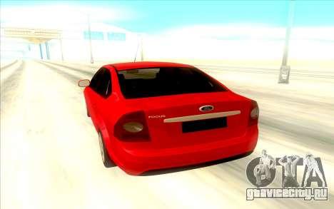 Ford Focus 2 Sedan для GTA San Andreas вид справа