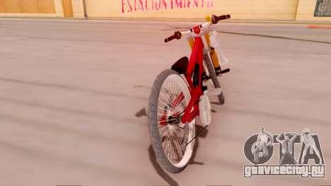 NOX Cycles Mountainbike для GTA San Andreas вид сзади слева