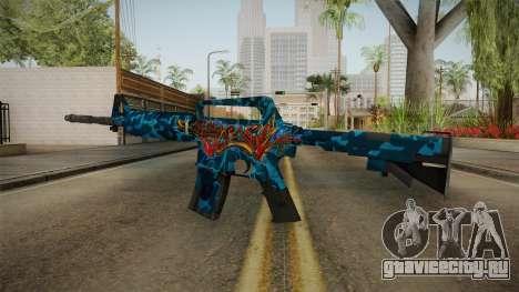 CS:GO - M4A1-S Masterpiece No Silencer для GTA San Andreas второй скриншот