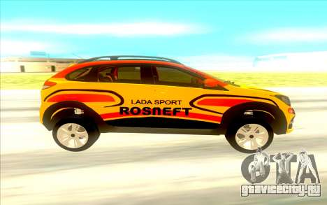 LADA X-Ray Rally для GTA San Andreas вид слева