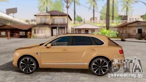 Bentley Bentayga для GTA San Andreas вид слева