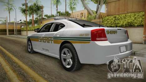 Dodge Charger 2009 Red County Sheriff Office для GTA San Andreas вид справа