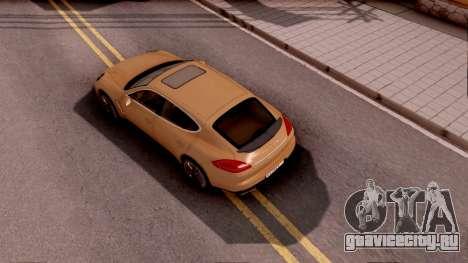 Porsche Panamera GTS 2012 для GTA San Andreas вид сзади