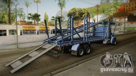 GTA 5 MTL Car Hauler SA Style для GTA San Andreas вид сзади слева