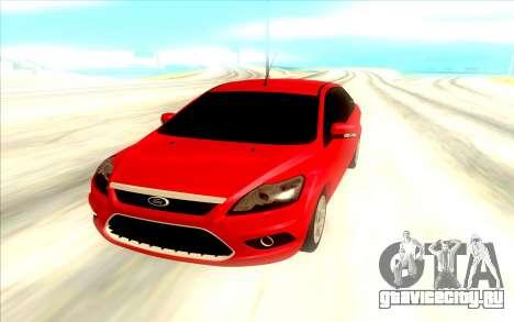 Ford Focus 2 Sedan для GTA San Andreas вид сзади
