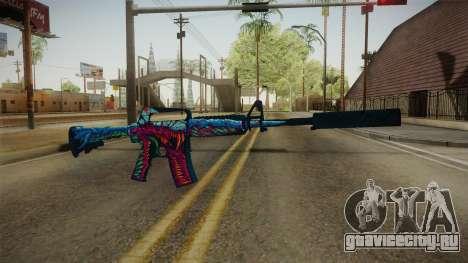 CS:GO - M4A1-S Hyper Beast для GTA San Andreas второй скриншот