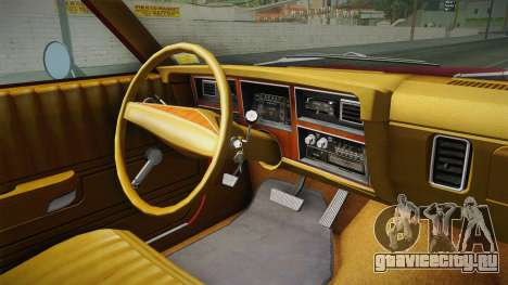 Dodge Aspen 1979 для GTA San Andreas вид изнутри