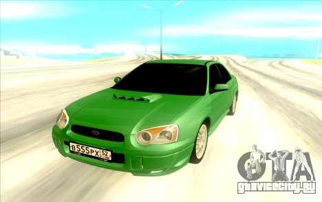 Subaru WRX STI для GTA San Andreas вид сзади