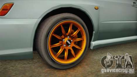 Subaru Impreza WRX Tunable для GTA San Andreas вид сзади