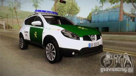 Nissan Qashqai Guatdia Civil Spanish для GTA San Andreas