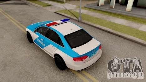 Audi S4 Russian Police для GTA San Andreas вид сзади