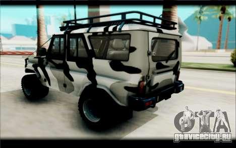 UAZ Hunter для GTA San Andreas вид сзади слева