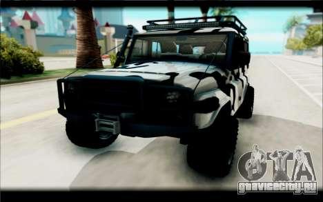 UAZ Hunter для GTA San Andreas вид справа