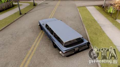 Voodoo Station Wagon для GTA San Andreas вид сзади