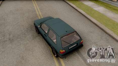Volkswagen Golf 2 GTI для GTA San Andreas вид сзади