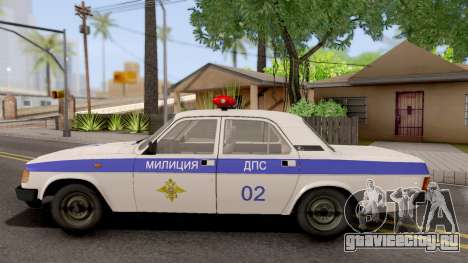 ГАЗ-31029 Милиция ДПС для GTA San Andreas вид слева