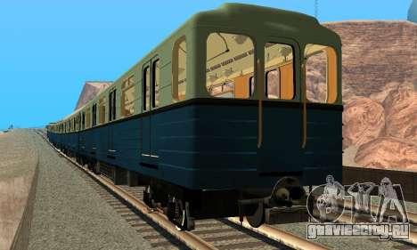 Метросостав типа Еж для GTA San Andreas вид сзади