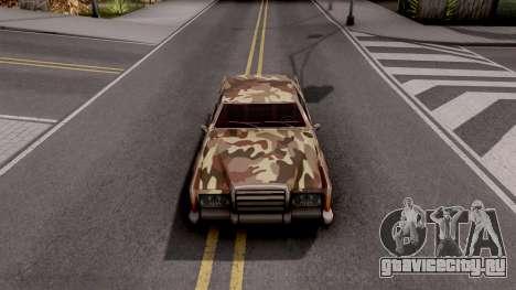 New Paintjob for Remington v2 для GTA San Andreas вид изнутри