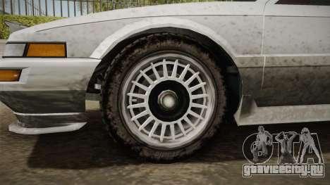 GTA 4 Dinka Hakumai Tuned Bumpers SA Style для GTA San Andreas вид сзади