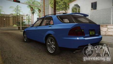 GTA 5 Karin Sultan SW для GTA San Andreas вид сзади слева