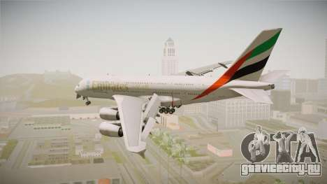 Airbus A380 Emirates Expo 2020 Dubai для GTA San Andreas вид справа