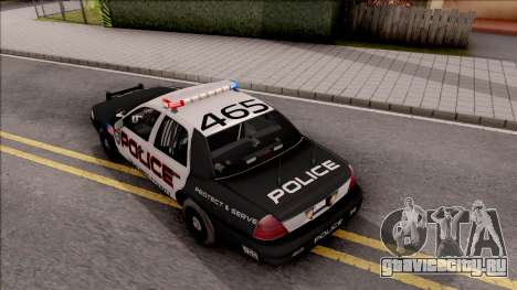 Ford Crown Vitoria High Speed Police для GTA San Andreas вид сзади