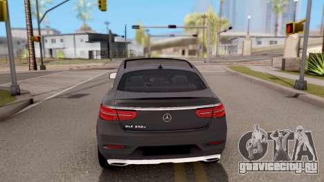 Mercedes-Benz GLE 350d для GTA San Andreas вид сзади слева