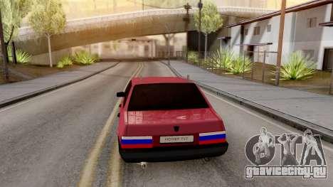 Ваз 21099 BlackOnyx для GTA San Andreas вид сзади слева