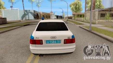 Audi A8 Russian Police для GTA San Andreas вид сзади слева