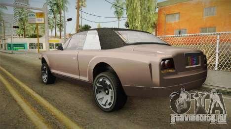 EFLC TBoGT Super Drop Diamond для GTA San Andreas вид слева