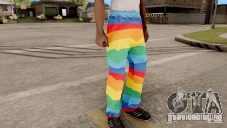 Радужные штаны для GTA San Andreas второй скриншот