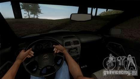 2001 Subaru Impreza WRX v 1.1 IVF [Tunable] для GTA San Andreas вид изнутри