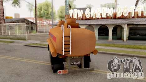 МАЗ Прицеп-Цистерна для GTA San Andreas вид слева