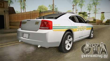 Dodge Charger 2009 Red County Sheriff Office для GTA San Andreas вид слева