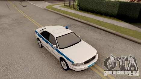 Audi A8 Russian Police для GTA San Andreas вид справа