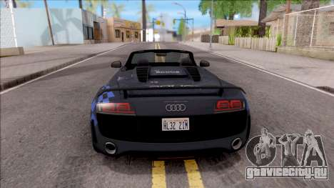 Audi R8 High Speed Police для GTA San Andreas вид сзади слева