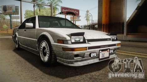 GTA 4 Dinka Hakumai Tuned Bumpers SA Style для GTA San Andreas вид справа