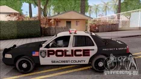 Ford Crown Vitoria High Speed Police для GTA San Andreas вид слева
