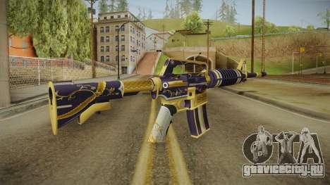 CS:GO - M4A1-S Gold Coil No Silencer для GTA San Andreas второй скриншот