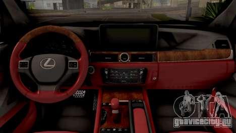 Lexus LX 570 2016 для GTA San Andreas вид изнутри
