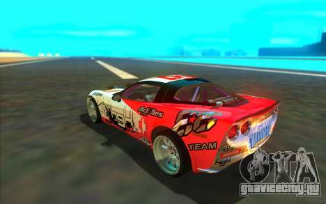 Chevrolet Corvette ZR1 для GTA San Andreas вид сзади слева