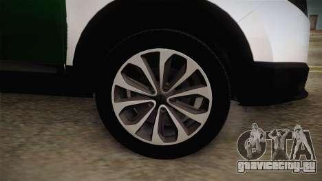 Nissan Qashqai Guatdia Civil Spanish для GTA San Andreas вид сзади
