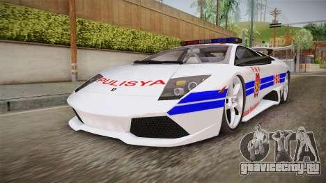 Lamborghini Murcielago P640 Bulacan Police для GTA San Andreas